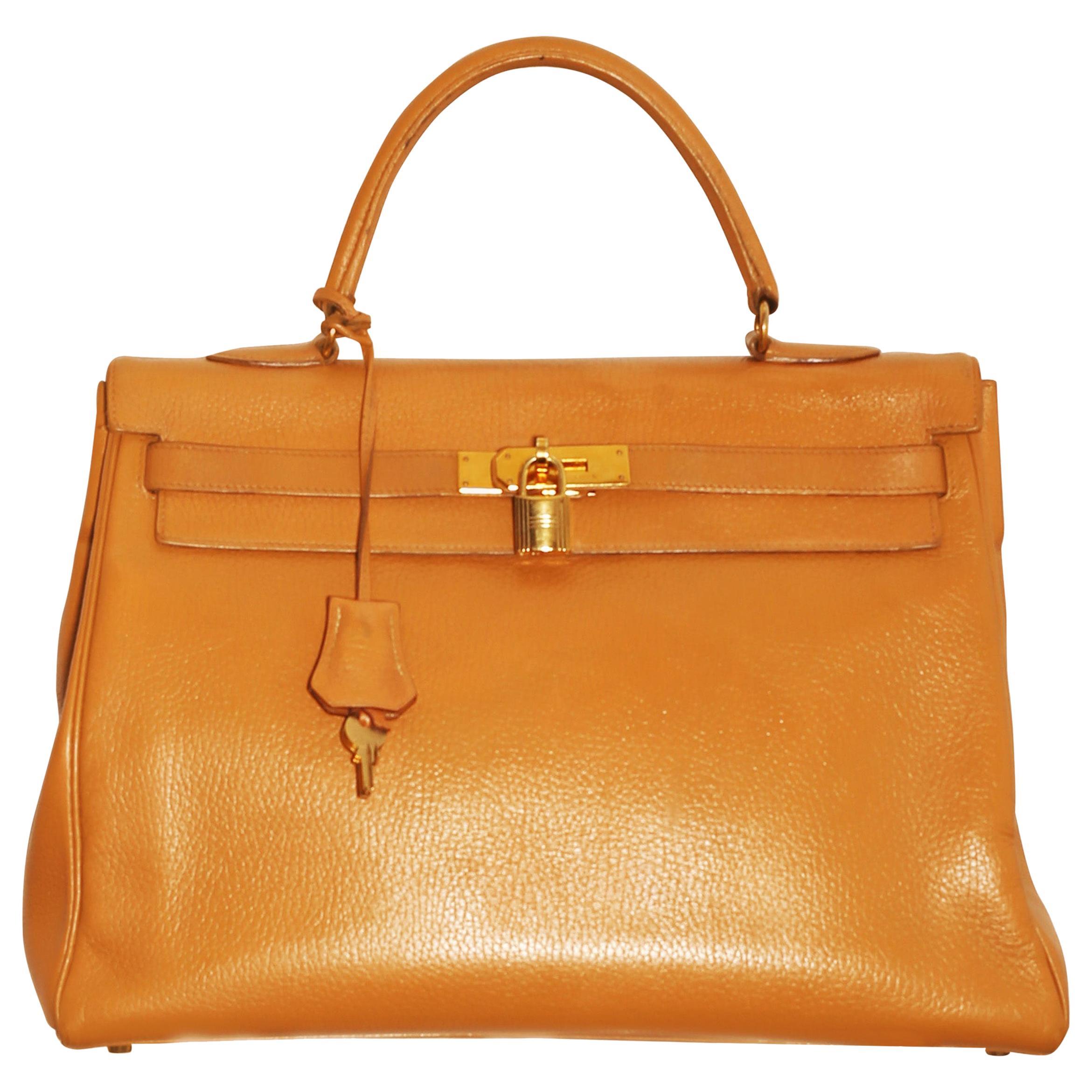 Vintage  Hermès Kelly 32  Handbag with Gold Hardware 1998