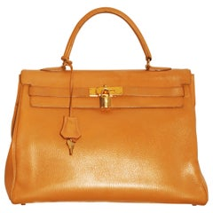 Vintage  Hermès Kelly 32  Handbag with Gold Hardware 1998