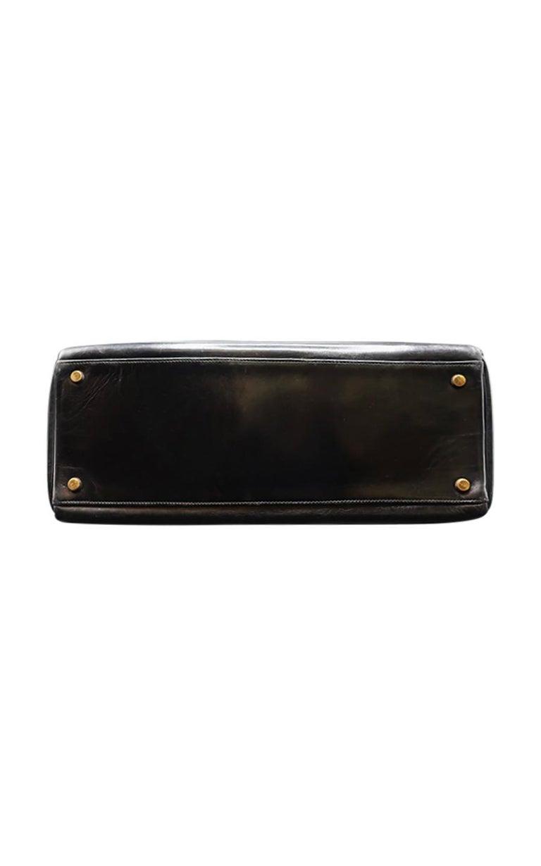 Vintage Hermès Kelly Bag  35 CM - Black For Sale 1