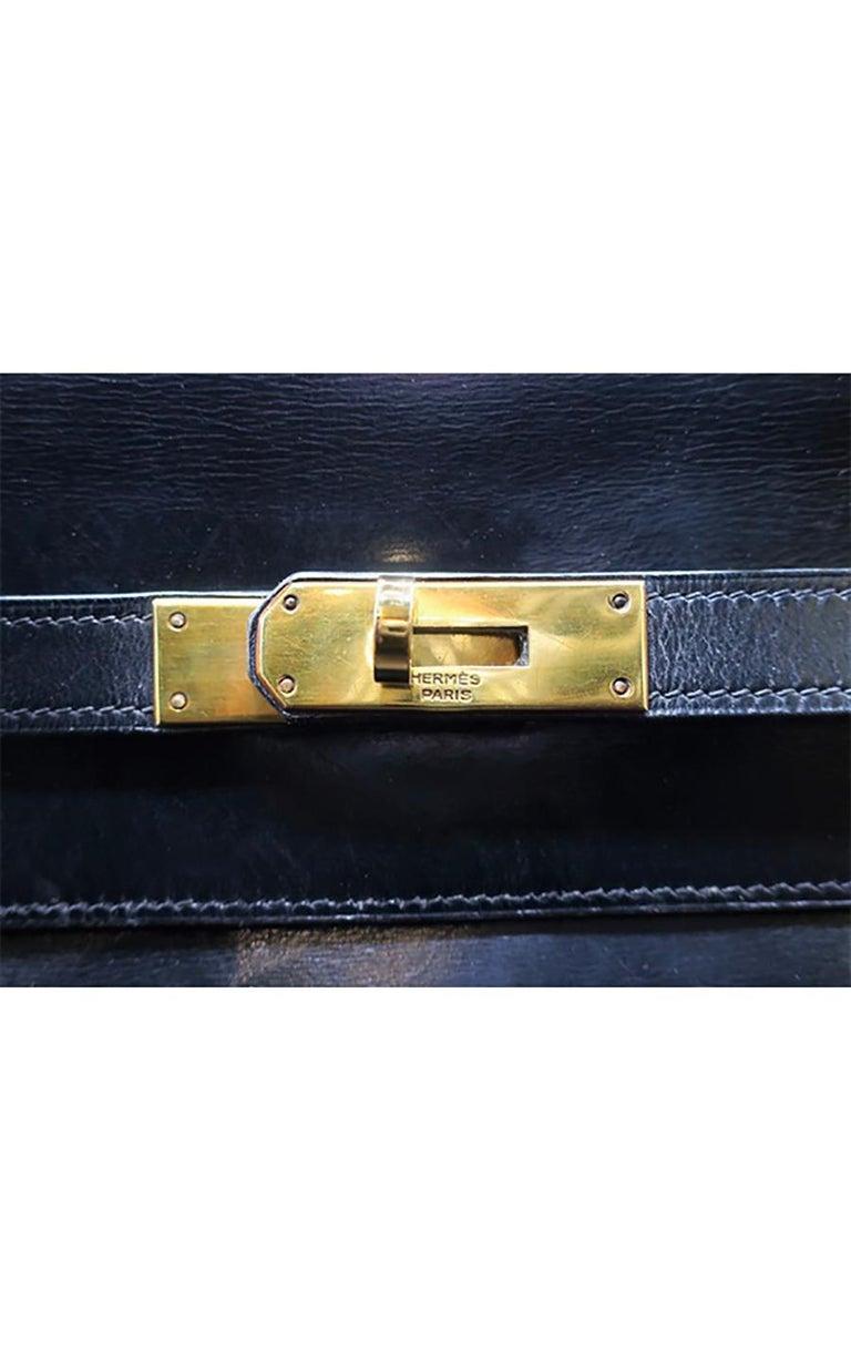 Vintage Hermès Kelly Bag  35 CM - Black For Sale 2