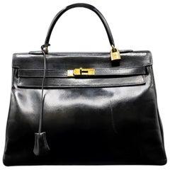 Vintage Hermès Kelly Bag  35 CM - Black