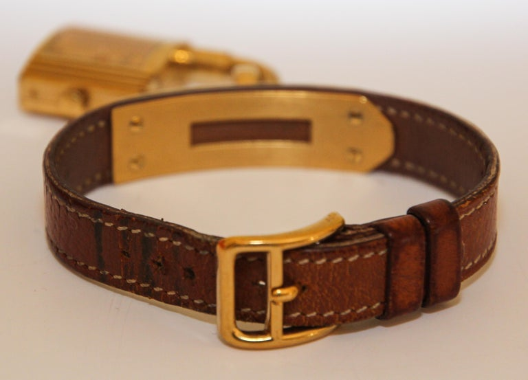 Vintage Hermes Kelly Watch Gold Plated For Sale 3