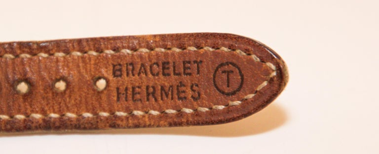 Vintage Hermes Kelly Watch Gold Plated For Sale 4