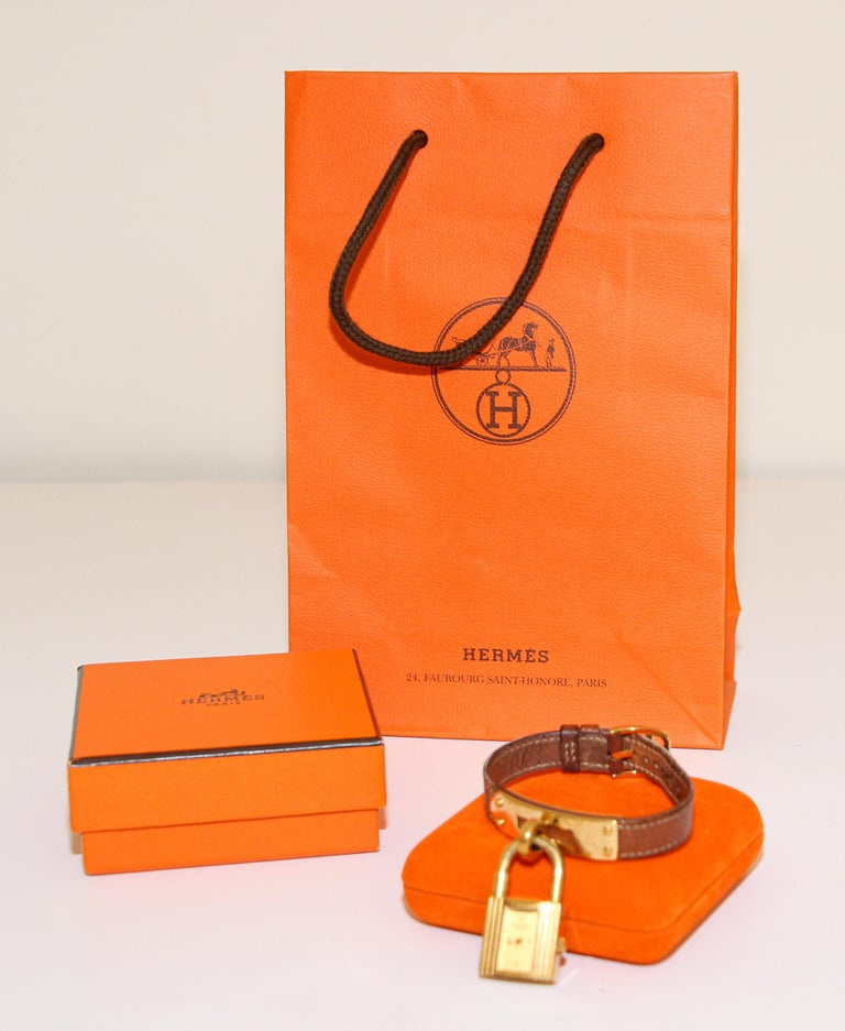 Vintage Hermes Kelly Watch Gold Plated For Sale 11