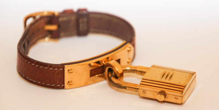Late 20th Century Vintage Hermes Kelly Watch Gold Plated For Sale