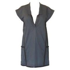 Hermes Leather Trim Cotton Tunic