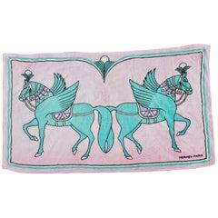 Vintage Hermès Love Horses Beach Towel