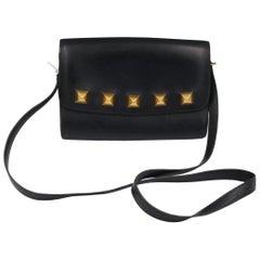 Vintage Hermes Medor  Shoulder Bag in Navy Box Leather