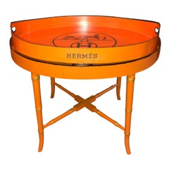 Vintage Hermes Painted Tray Top Cocktail Table