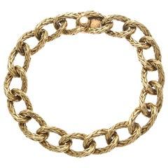 Vintage Hermés Paris 18 Karat Gold Oval Link Bracelet