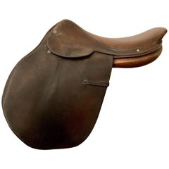Vintage Hermes Paris Leather Jumping Saddle