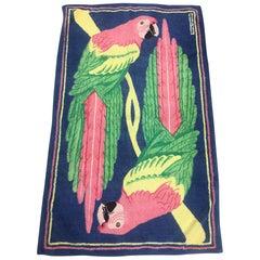 Vintage Hermès Pink Parrots Beach Towel