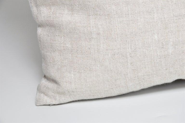 20th Century Vintage Hermès Ribbons 'Bolduc' Silk Scarf and Irish Linen Cushion Pillow Blue For Sale