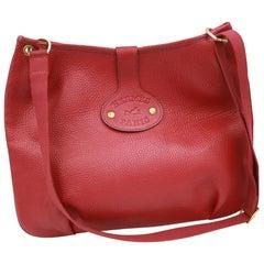 Vintage Hermes Rodeo Handbag in Red Grained Leather