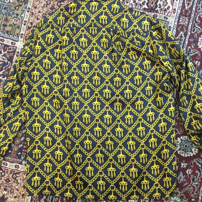 Black Vintage Hermes Silk Blouse Size 42 French For Sale