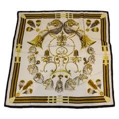 Vintage Hermes Silk Scarf , Panache Fantasie by Hugo Grygkar