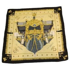 Vintage Hermes Silk Scarf Vue de Carrosse by Hugo Grygkar