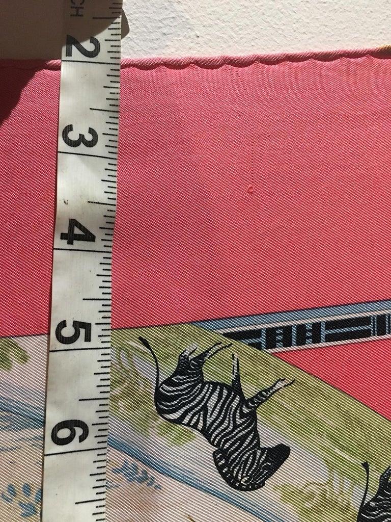 Vintage Hermes Tropiques Silk Scarf in Pink c1980s For Sale 2