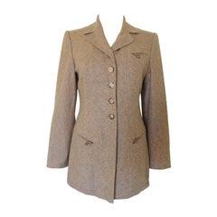 Vintage Hermes Tweed Equestrian Jacket