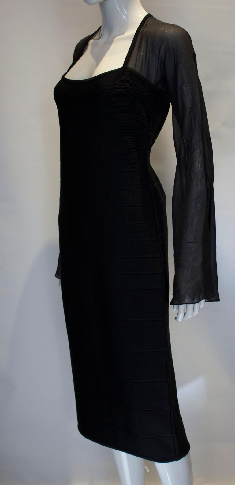 Vintage Herve Leger Evening Dress In Good Condition For Sale In London, GB
