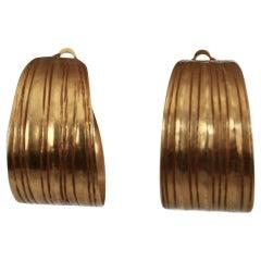Vintage Herve van der Straeten Clip Hoop Earrings