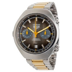 Vintage Heuer Carrera Men's Watch in Stainless Steel and Gold-Plated