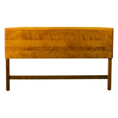 Vintage Heywood-Wakefield Maple Wood Curved Queen Headboard