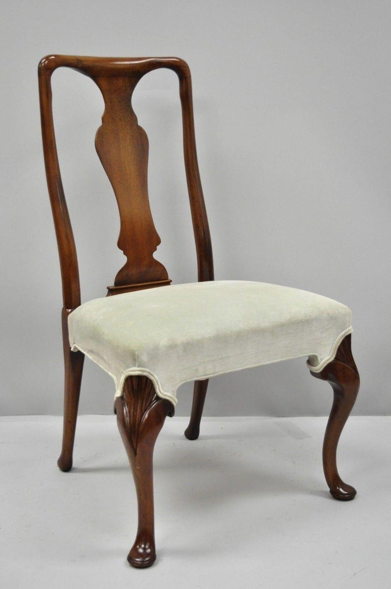 Vintage Hickory Chair Company Queen Anne Style Mahogany Dining Chairs Set of 4 6