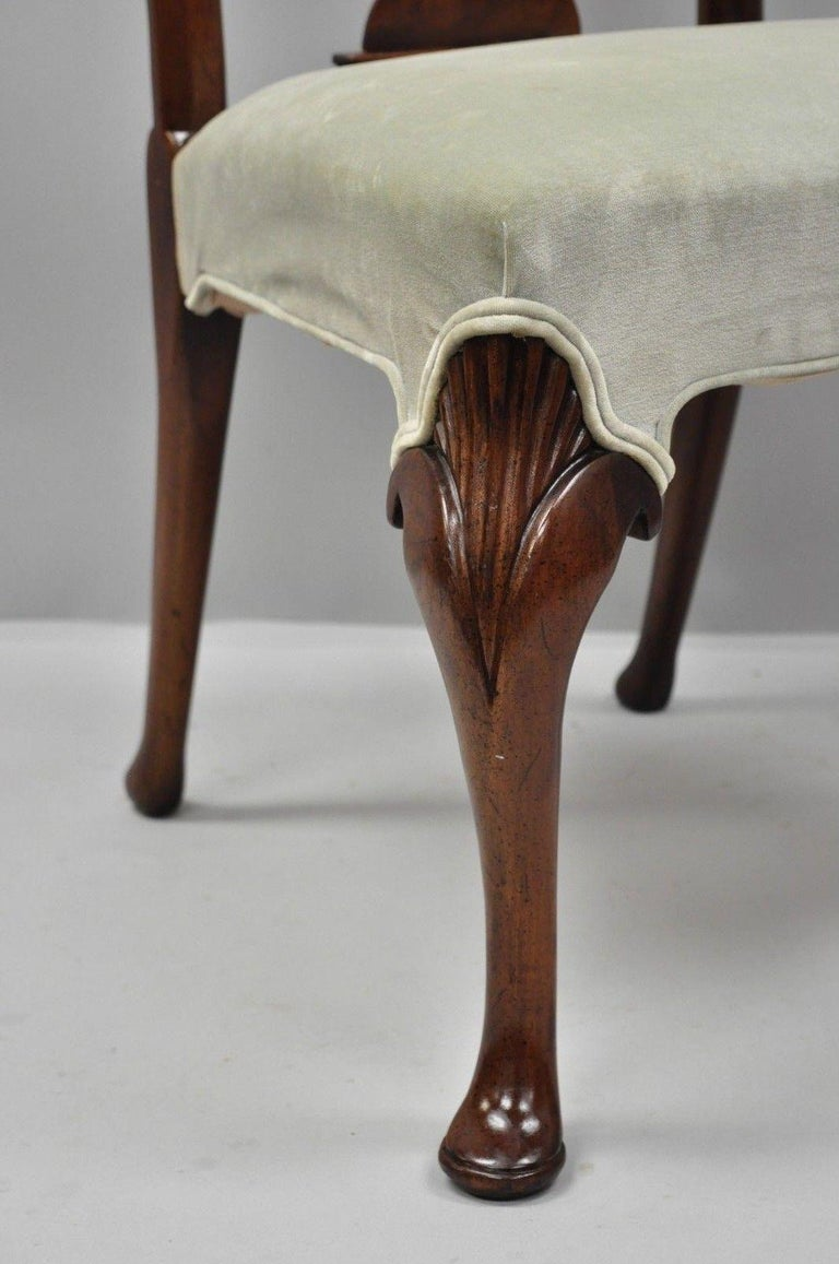 American Vintage Hickory Chair Company Queen Anne Style Mahogany Dining Chairs Set of 4