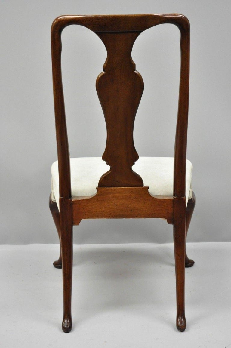 Vintage Hickory Chair Company Queen Anne Style Mahogany Dining Chairs Set of 4 2