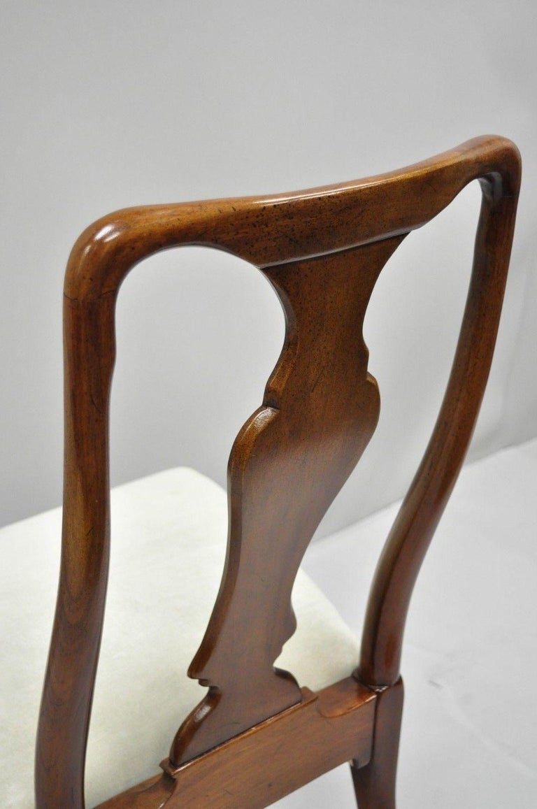 Vintage Hickory Chair Company Queen Anne Style Mahogany Dining Chairs Set of 4 3