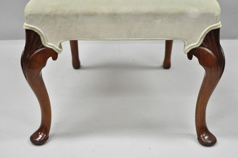 Vintage Hickory Chair Company Queen Anne Style Mahogany Dining Chairs Set of 4 4