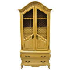 Vintage Hickory Mfg. French Country Provincial Armoire Wardrobe Dresser Cabinet