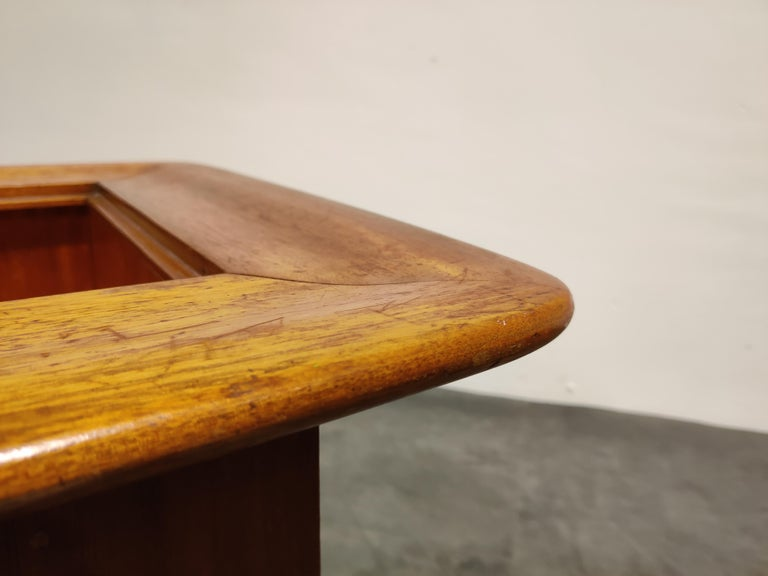 Vintage Hidden Bar Coffee Table by Alfred Hendrickx for Belfom, 1950s For Sale 1
