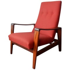 Vintage High Back Lounge Chair by Arne Wahl Iversen for Komfort, Denmark, 1960s