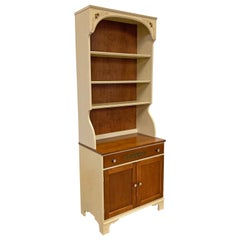 Vintage Hitchcock Cherry 2-Piece Shelf Bookcase Cabinet