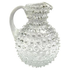 Vintage Hobnail Glass Pitcher