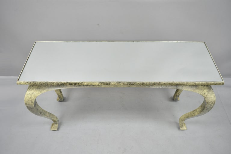 Late 20th Century Vintage Hollywood Regency James Mont Style Console Hall Sofa Table For Sale