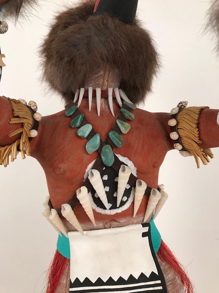 Vintage Hopi Kachina Dancing Bear Hand Carved Signed by Artist For Sale 2