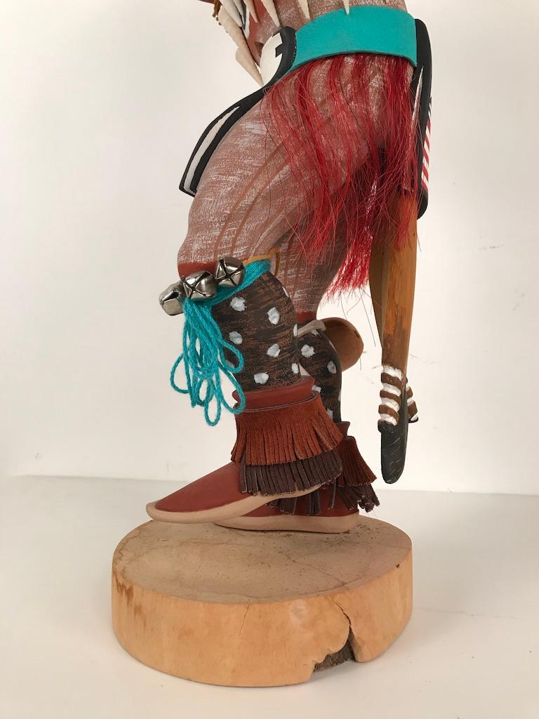 Vintage Hopi Kachina Dancing Bear Hand Carved Signed by Artist For Sale 4