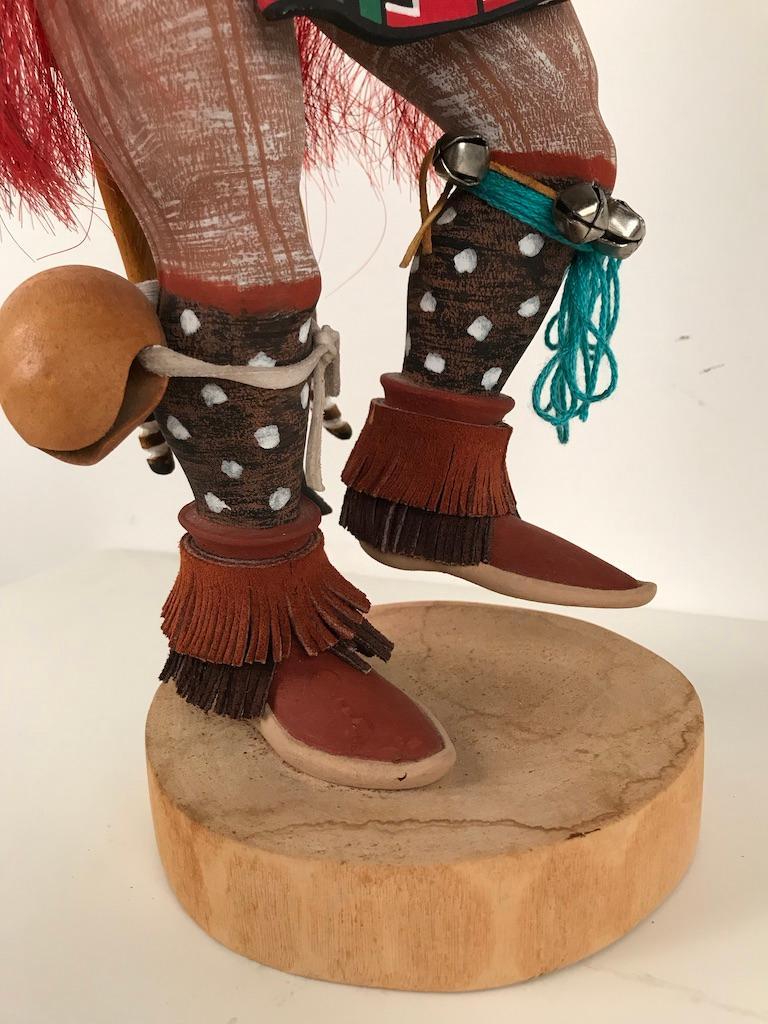 Vintage Hopi Kachina Dancing Bear Hand Carved Signed by Artist For Sale 11