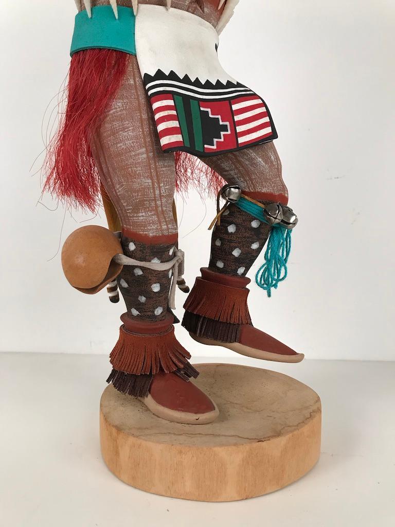 Hand-Carved Vintage Hopi Kachina Dancing Bear Hand Carved Signed by Artist For Sale