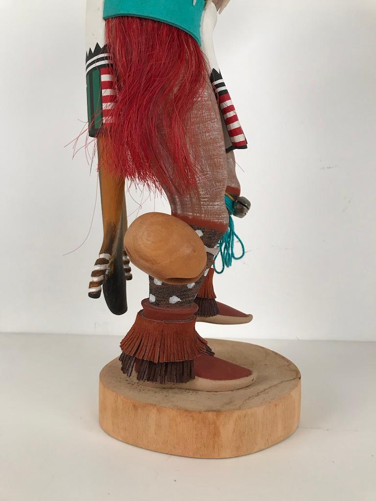Vintage Hopi Kachina Dancing Bear Hand Carved Signed by Artist In Good Condition For Sale In Stamford, CT
