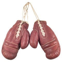 Vintage Horse Hair and Leather Boxing Gloves, circa 1920-1930