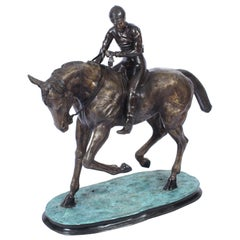 Vintage Horse & Jockey Bronze Sculpture Mene', 20th Century
