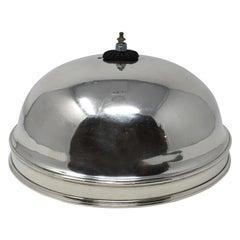 Vintage Hotel Silver Serving Dome