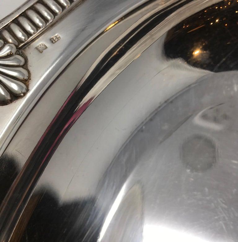 Vintage Hotel Silver Serving Platter For Sale 3