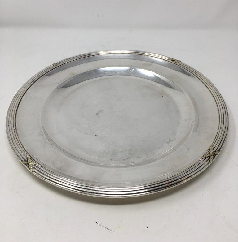 Vintage Hotel Silver Serving Platter For Sale 4