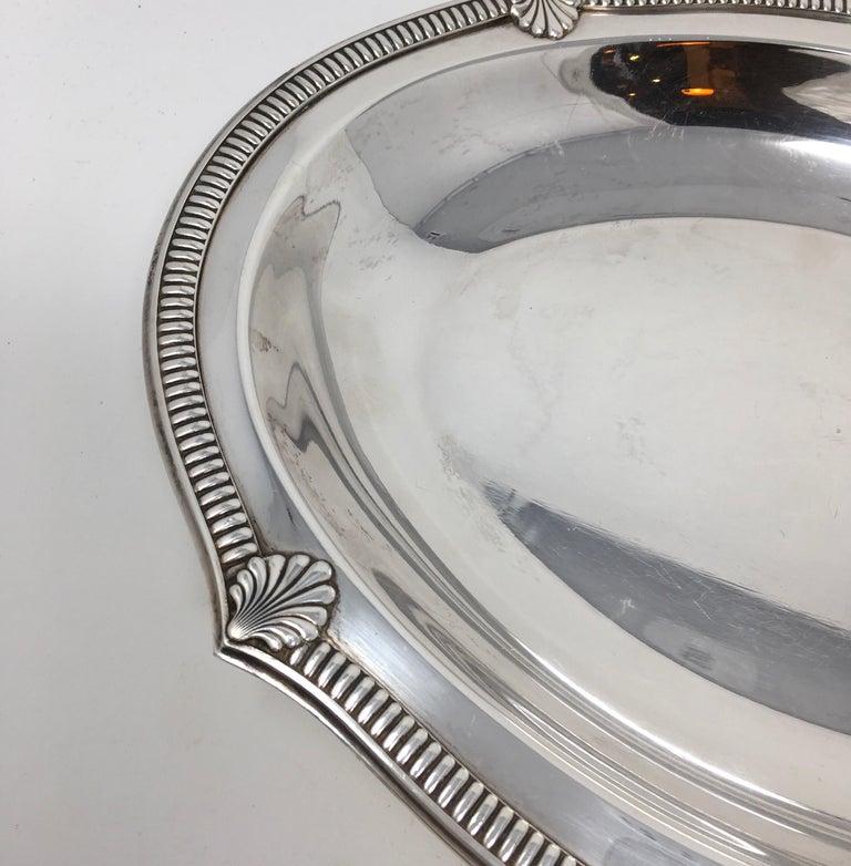 Silver Plate Vintage Hotel Silver Serving Platter For Sale