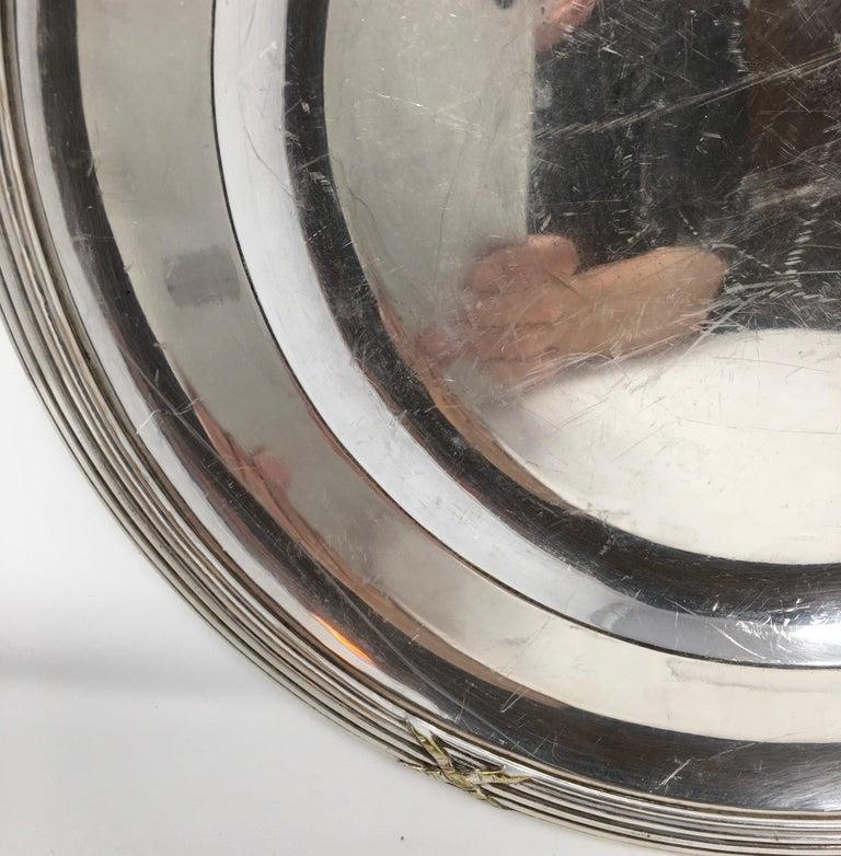 Vintage Hotel Silver Serving Platter For Sale 1